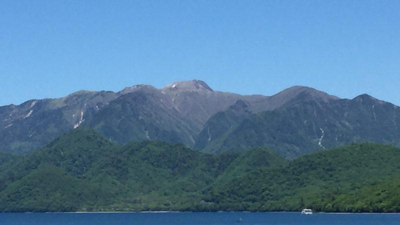中禅寺湖から日光白根山